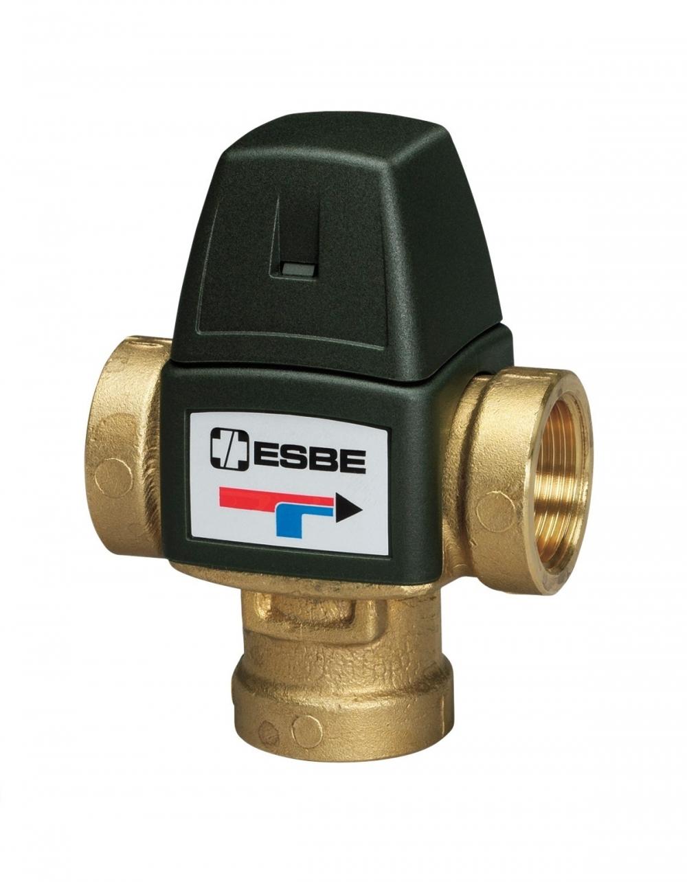 """Термостатический смесительный клапан 1/2"""" ESBE VTA321, с защитой от ожогов для ГВС T=20-43°C Rp 1/2"""" DN 15 Kvs 1,5 31100300 - 4"""