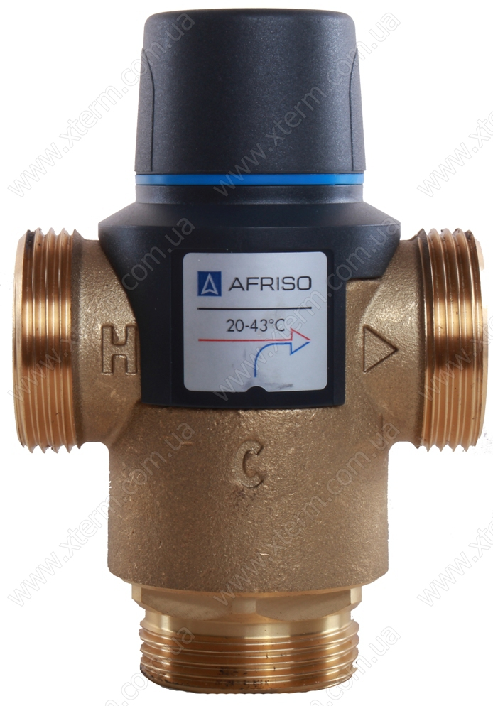 """Термостатический клапан 1 1/4"""" Afriso ATM881 на теплый пол T=20-43°C G 1 1/4"""" DN25 Kvs 4,2 1288110 - 1"""