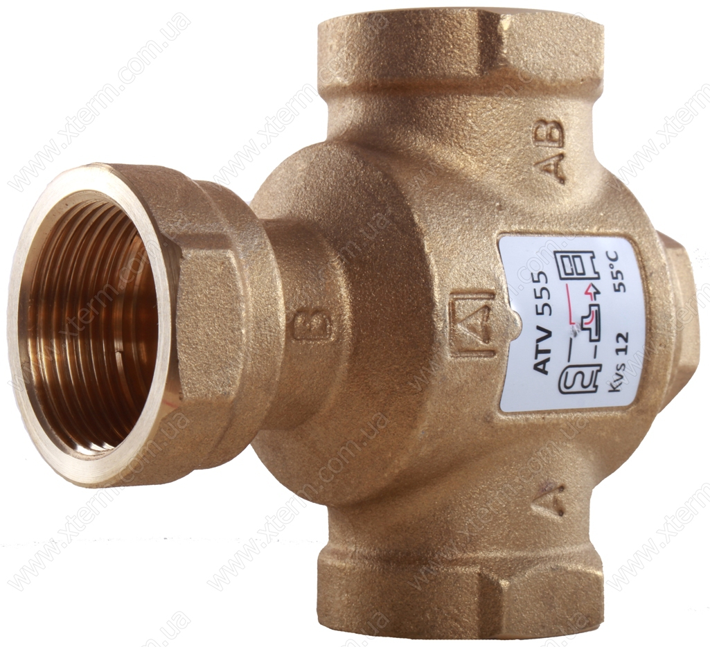 """Трехходовой термический клапан Afriso ATV553 T=45°C Rp 1 1/4"""" Kvs 12 - 2"""