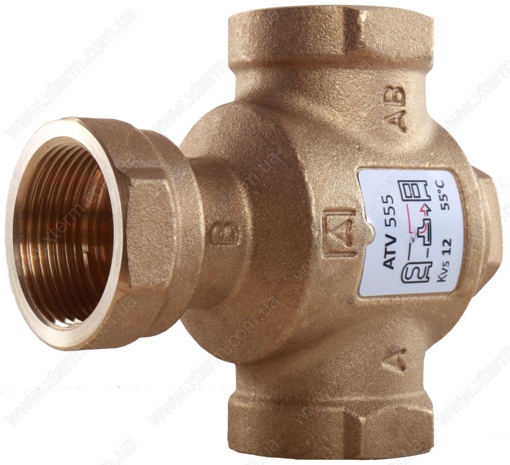 """3-ходовой термический клапан Afriso ATV335 T=55°C Rp 1"""" Kvs 9 - 2"""