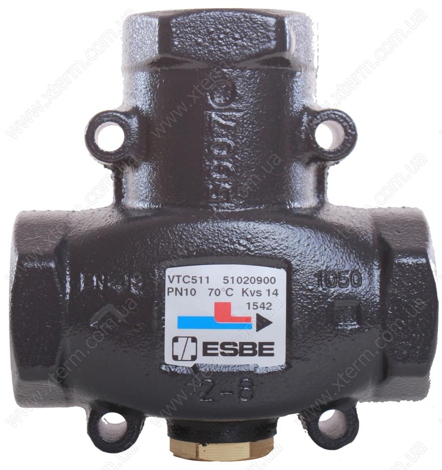 "ESBE VTC511 3-ходовой термический клапан T=75°C Rp 1 1/4"" Kvs 14 - 1"
