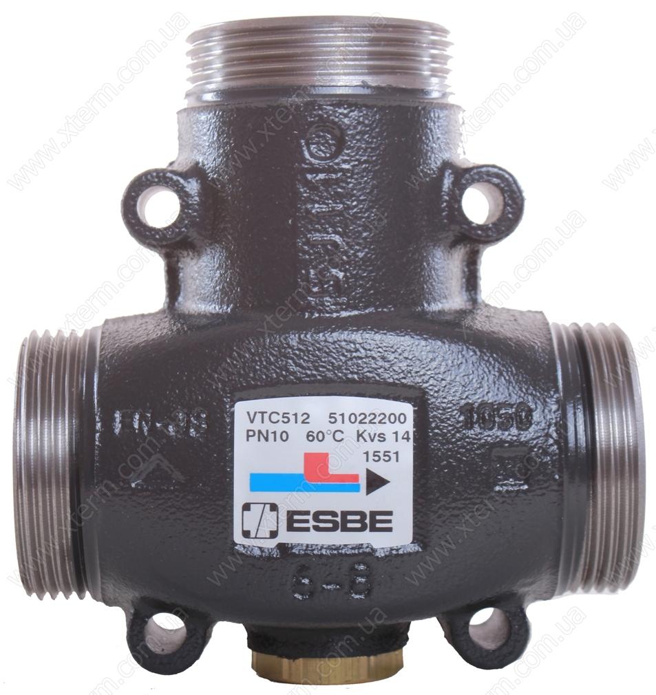 """Трехходовой термический клапан ESBE VTC512 T=55°C G 1 1/4"""" Kvs 9 - 1"""