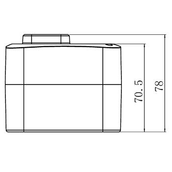"""Комплект: трехходовой поворотный смесительный клапан TOR 1"""", DN 25 и привод AZOG 3-точки, 124 сек, 8 Нм 230В - 5"""