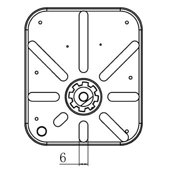 """Комплект: трехходовой поворотный смесительный клапан TOR 1"""", DN 25 и привод AZOG 3-точки, 124 сек, 8 Нм 230В - 6"""