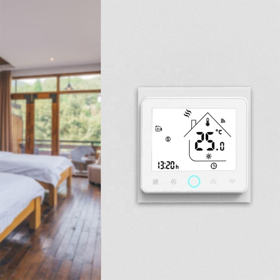 Умный дом: WIFI комнатный термостат для газовых и электрических котлов, черный - 6