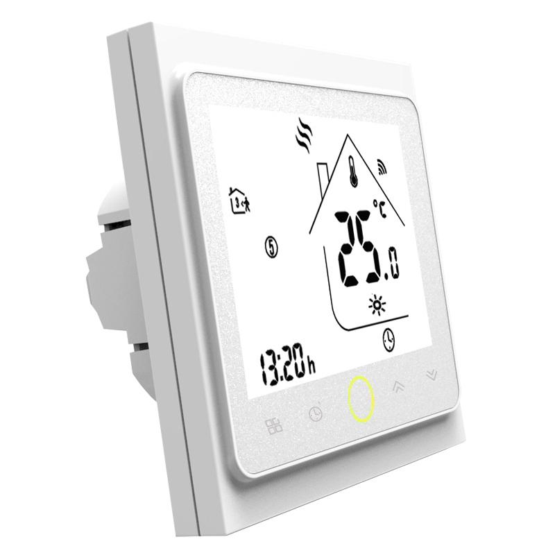 Умный дом: ZigBee терморегулятор для водяного / электрического теплого пола Tervix с датчиком 3 м арт.117131, программируемый термостат. Беспроводное + голосовое управление - 1