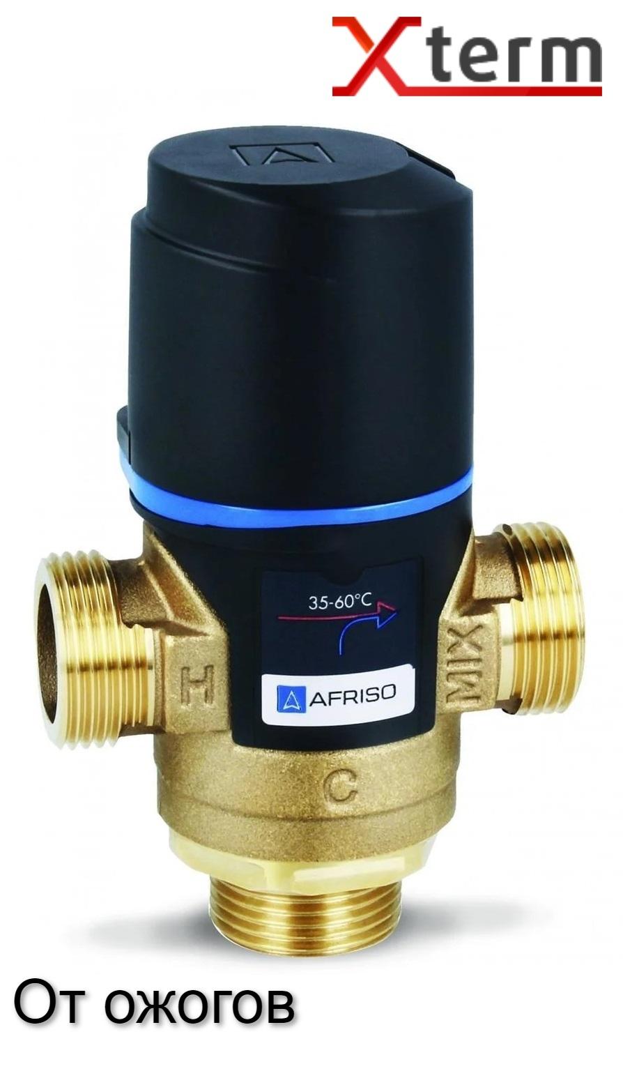 """Клапан от ожогов 1"""" Afriso ATM 363 T=35-60°C G 1"""" DN20 Kvs 1,6 термостатический смесительный  - 3"""
