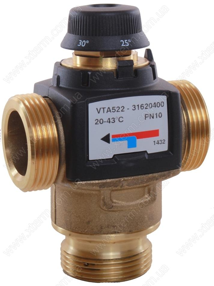 """Термостатический клапан 1"""" ESBE VTA522, с защитой от ожогов для ГВС 20-43°C G1"""" DN20 kvs 3,2 31620100 - 1"""