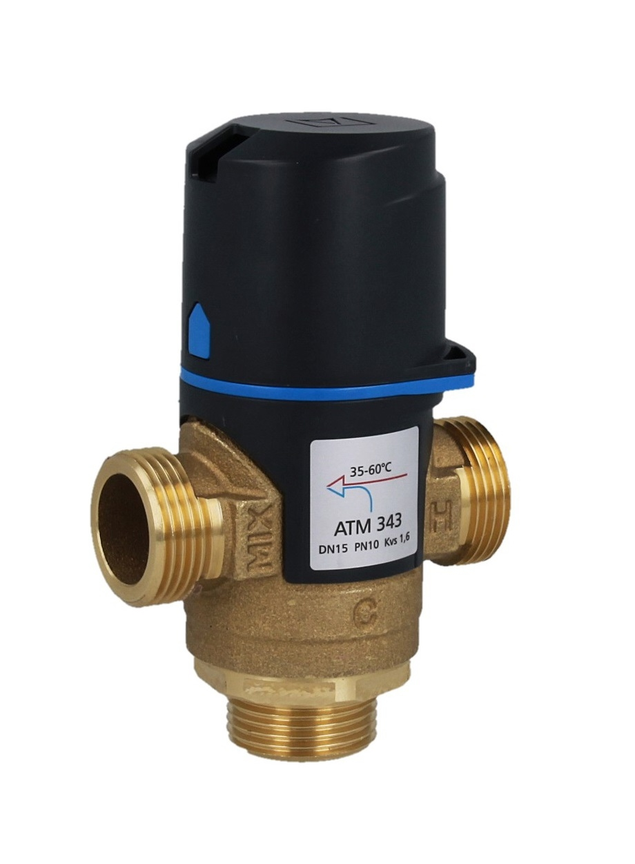 """Термостатический клапан 3/4"""" Afriso ATM343 с защитой от ожогов для ГВС T=35-60°C G 3/4"""" DN15 Kvs 1,6 1234310 - 8"""