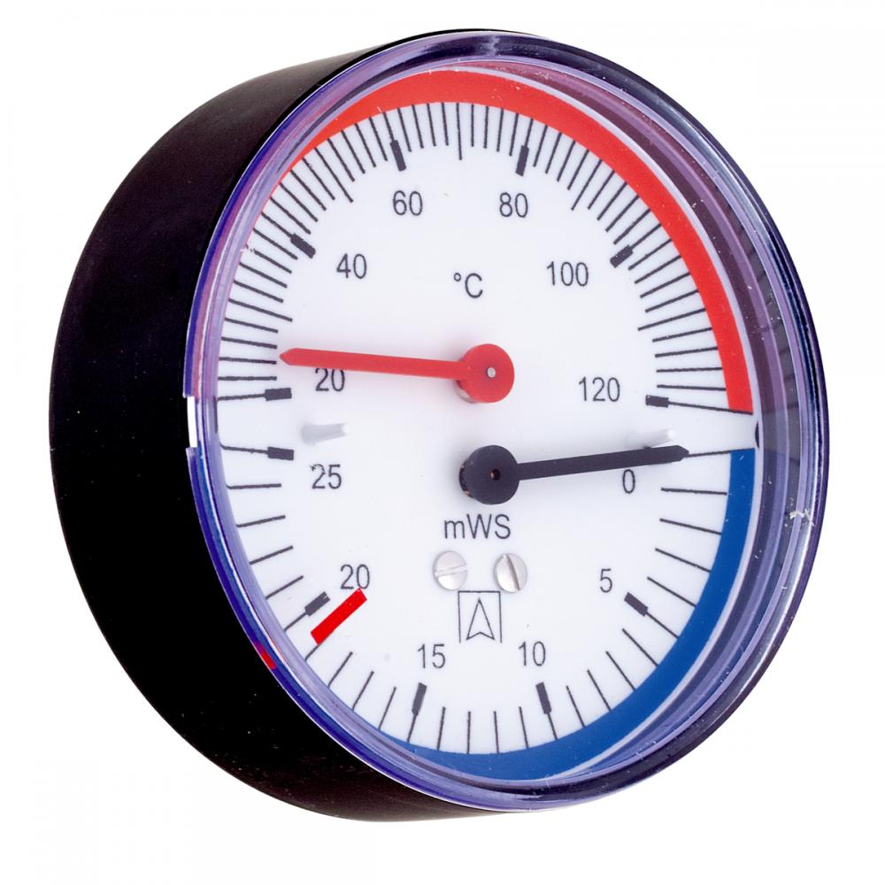 Термогидрометр Afriso ТН80, 20-120°С, 60 м. водяного столба, аксиальный - 1