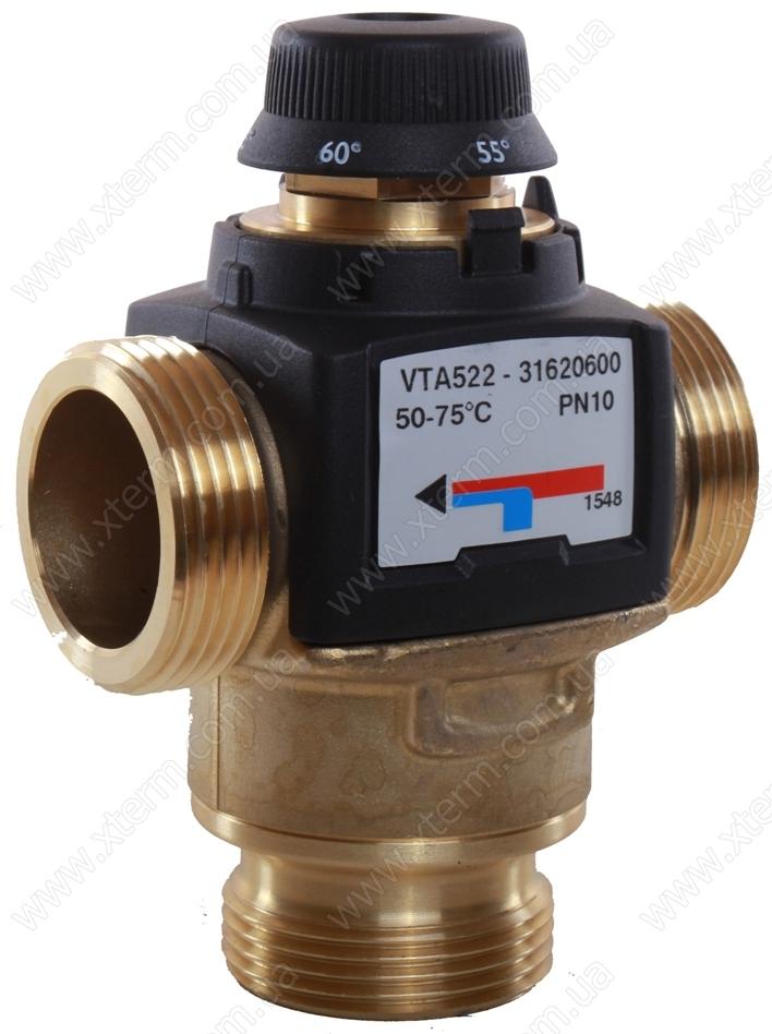 """Термостатический клапан 1 1/4"""" ESBE VTA522, с защитой от ожогов для ГВС 50-75°C G1 1/4"""" DN25 kvs 3,5 31620600 - 1"""