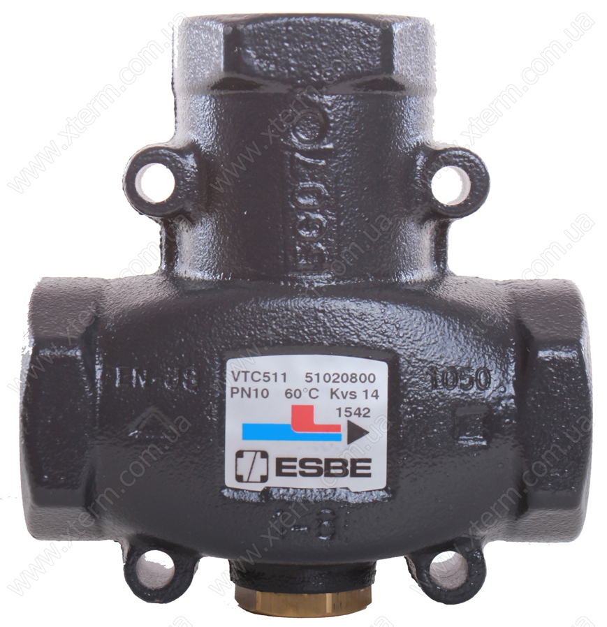 "ESBE VTC511 3-ходовой термический клапан T=60°C Rp 1 1/4"" Kvs 14 - 1"