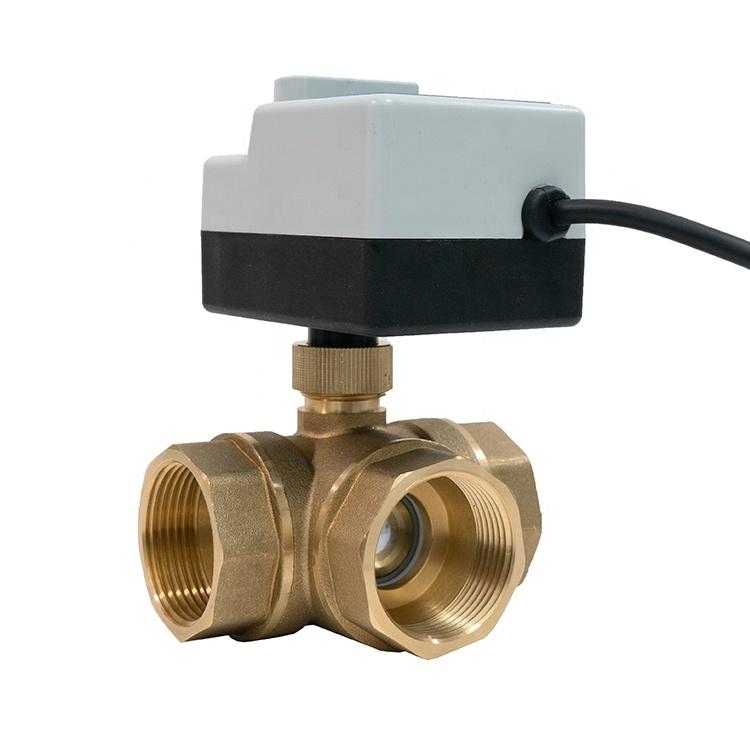 """3-ходовой шаровой клапан н/в  3/4"""" DN20 с электроприводом Tervix Pro Line ORC 3-way 202122 - 2"""