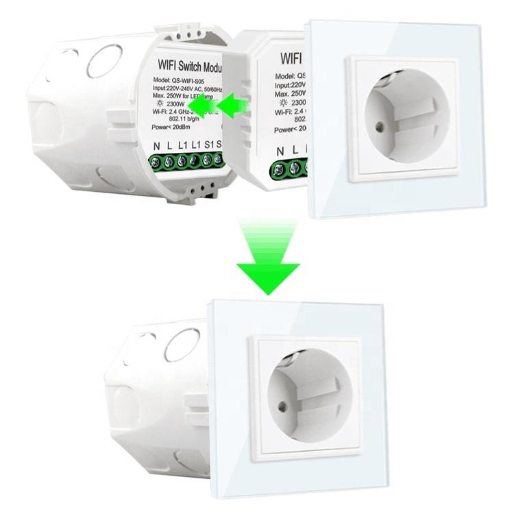Умный дом: выключатель Tervix Pro Line WiFi Switch (1 клавиша / розетка) реле для скрытого монтажа - 5
