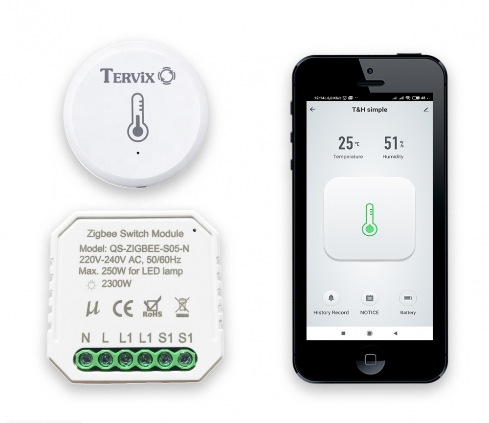 Комплект умного дома: защита от грибка и плесени в ванной Tervix ZigBee регулирование влажности включение вентиляции - 3