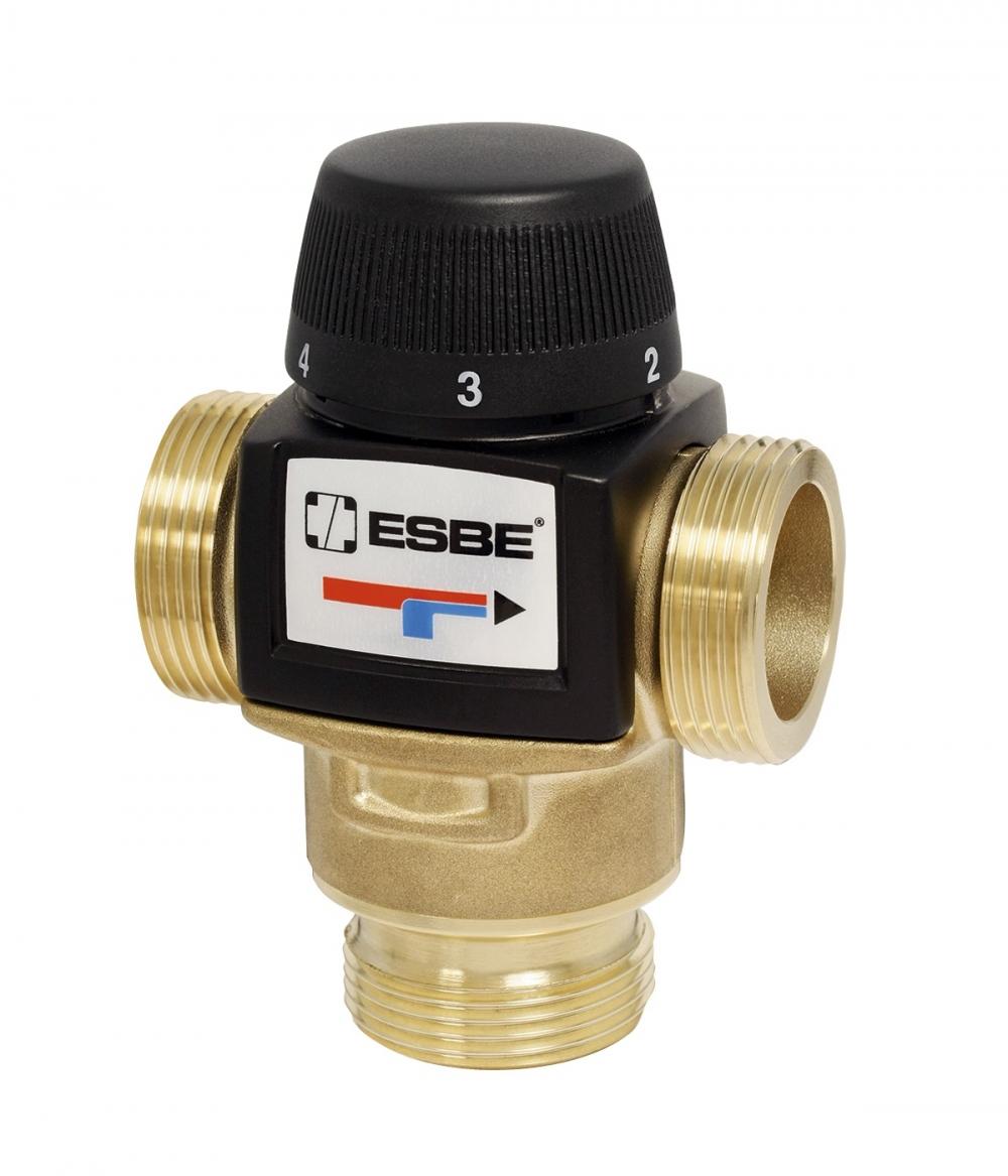 """Термостатический клапан ESBE 1 1/4"""" на теплый пол, радиаторы с защитой от перегр., VTA572 30-70°C DN25 kvs 4,8 - 6"""