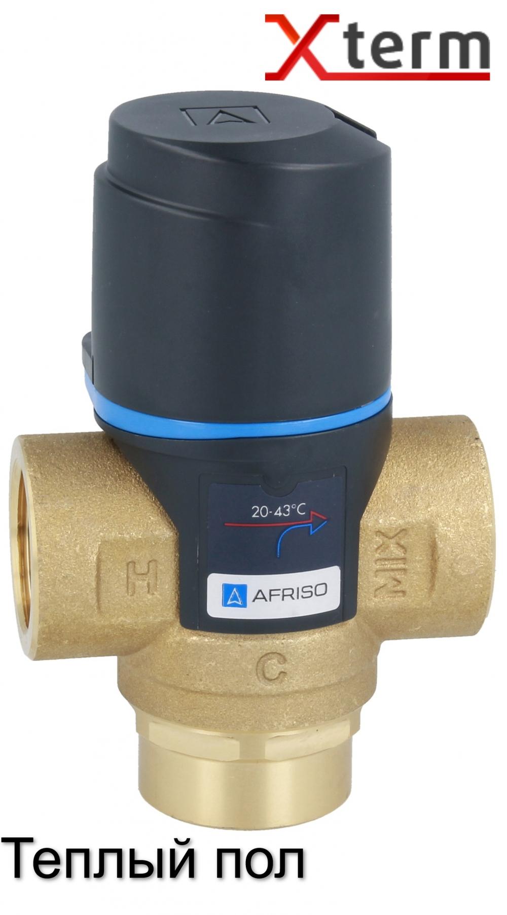 """Термостатический клапан 3/4"""" Afriso ATM 331 на теплый пол T=20-43°C Rp 3/4"""" DN20 Kvs 1,6 1233110 - 3"""