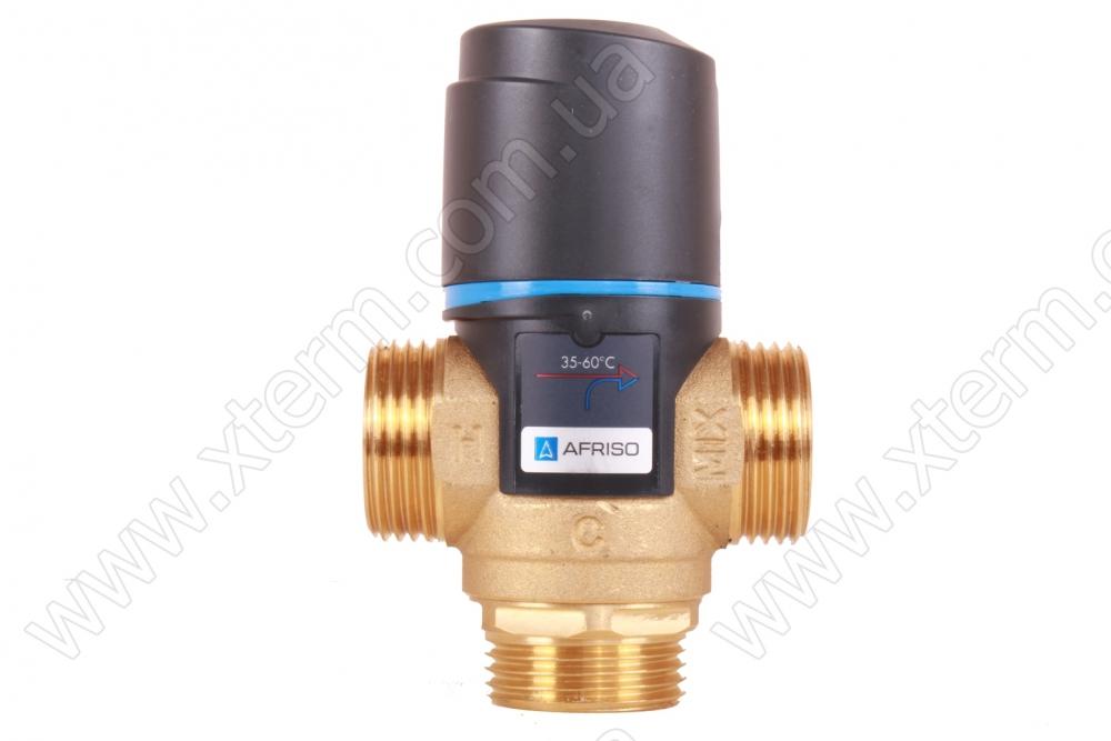 """Клапан от ожогов 1"""" Afriso ATM 363 T=35-60°C G 1"""" DN20 Kvs 1,6 термостатический смесительный  - 1"""