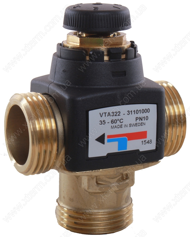 """Термостатический клапан 1"""" ESBE VTA322, с защитой от ожогов для ГВС T=35-60°C G 1"""" DN 20 Kvs 1,6 31101000 - 1"""
