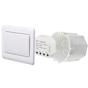 Умный дом: выключатель - регулятор Tervix Pro Line WiFi Dimmer (1 клавиша) реле для скрытого монтажа - 1