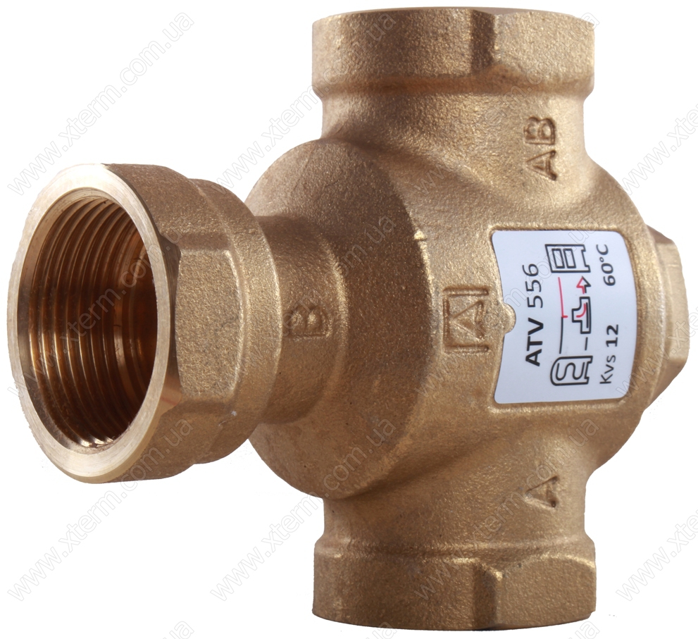 """3-ходовой термический клапан Afriso ATV556 T=60°C Rp 1 1/4"""" Kvs 12 - 2"""