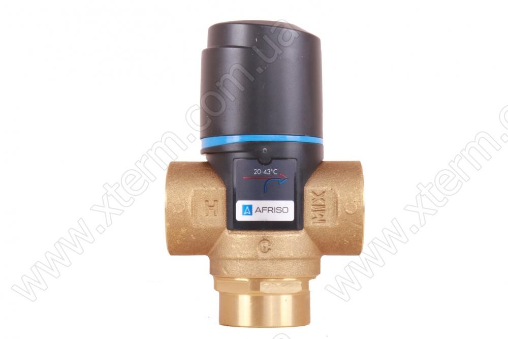 """Термостатический клапан 3/4"""" Afriso ATM333 с защитой от ожогов для ГВС T=35-60°C Rp 3/4"""" DN20 Kvs 1,6 1233310 - 1"""