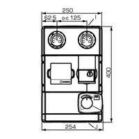"Погодозависимая насосная группа ESBE GRC111 DN 25, 1 1/2""х1"", 6 бар, 4,8м³/ч - 1"