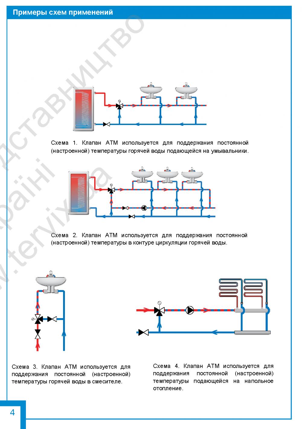 """Термостатический клапан 3/4"""" Afriso ATM333 с защитой от ожогов для ГВС T=35-60°C Rp 3/4"""" DN20 Kvs 1,6 1233310 - 3"""