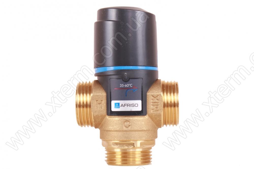 """Термостатический клапан 1"""" Afriso ATM563 с защитой от ожогов для ГВС T=35-60°C G 1"""" DN20 Kvs 2,5 1256310 - 1"""