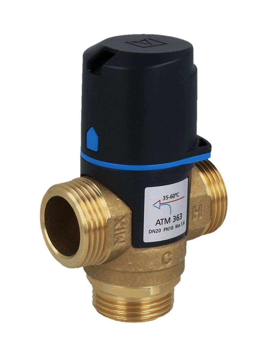 """Термостатический клапан 1"""" Afriso ATM363 с защитой от ожогов для ГВС T=35-60°C G 1"""" DN20 Kvs 1,6 1236310 - 8"""