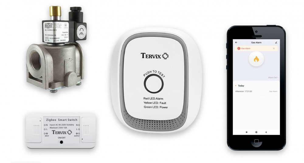 Комплект умного дома: защита от утечки газа природного Tervix ZigBee перекрытие подачи газа в случае тревоги - 5