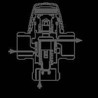 """Термостатический смесительный клапан 1/2"""" ESBE VTA312 для ГВС 35-60°C DN 15 Kvs 1,2 31050200 - 2"""