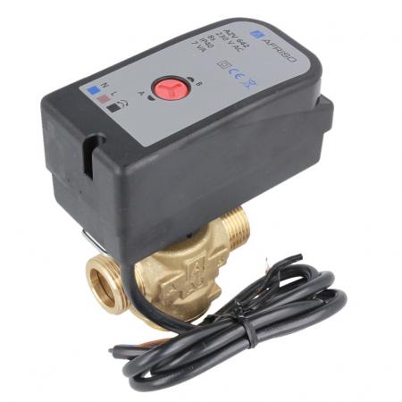 """Трехходовой зонный переключающий клапан Afriso AZV643 DN20, G1"""", kvs 8, 230В АС 2 точки, c кабелем - 1"""