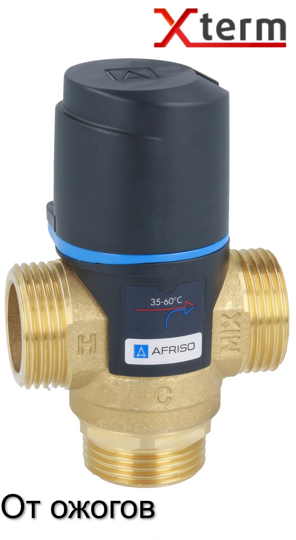 """Клапан от ожогов 1"""" Afriso ATM 363 T=35-60°C G 1"""" DN20 Kvs 1,6 термостатический смесительный  - 4"""