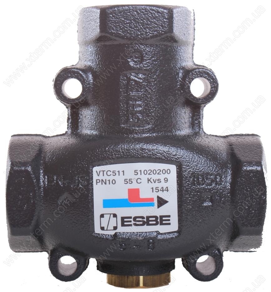 "ESBE VTC511 3-ходовой термический клапан T=55°C Rp 1"" Kvs 9 - 1"